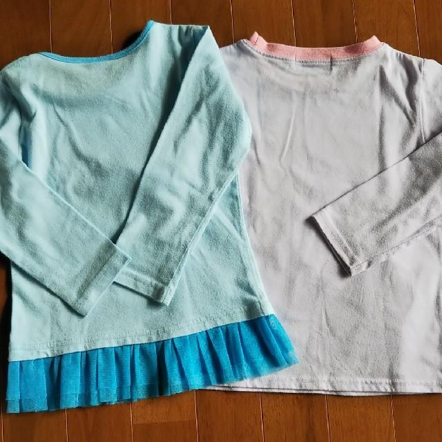 サンリオ(サンリオ)のあやりん様専用 2枚セット アナ雪/ボンボンリボン 110~120 キッズ/ベビー/マタニティのキッズ服女の子用(90cm~)(Tシャツ/カットソー)の商品写真
