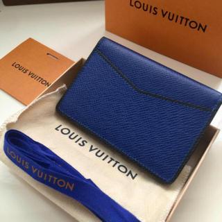 LOUIS VUITTON - シリアル2018極美品正規品ルイヴィトン名刺入れカードケース