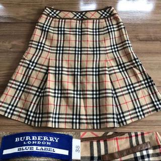 バーバリーブルーレーベル(BURBERRY BLUE LABEL)のBURBERRY バーバリー ノバチェック  スカート ボックスプリーツ38(ひざ丈スカート)