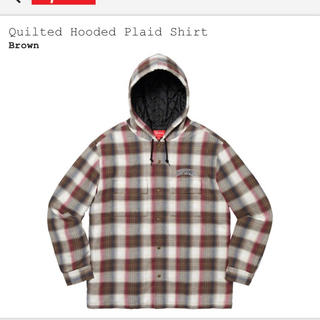 Supreme - supreme Quilted Hooded Plaid Shirt シャツ
