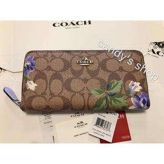 COACH - セール!コーチ 新品 ムラサキ  フラワー かわいい 長財布