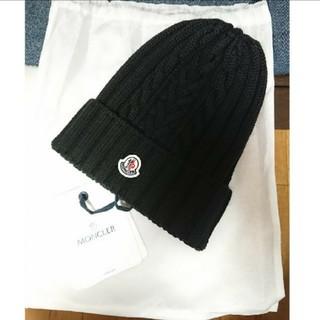 MONCLER - MONCLER モンクレール ニット帽 ブラック