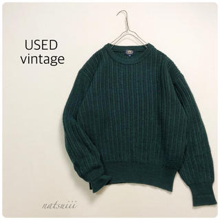 ロキエ(Lochie)のUSA USED vintage . クルーネック 畦編み リブ ニット(ニット/セーター)