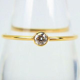 K18 ダイヤモンド リング 16号[g117-2](リング(指輪))