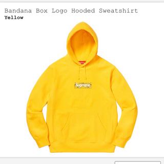 シュプリーム(Supreme)の Box Logo Hooded Sweatshirt / yellow s(パーカー)