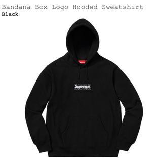 シュプリーム(Supreme)のSupreme Bandana Box Logo 黒 Sサイズ パーカー(パーカー)
