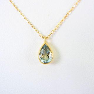 4℃ - 4℃ K18 アクアマリン ダイヤモンド ペンダント[g117-4]