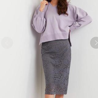 ユナイテッドアローズ(UNITED ARROWS)の エメルリファインズ ラッセルレースIラインスカート(ひざ丈スカート)