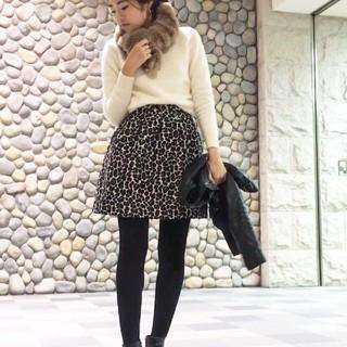 ルビーリベット(Rubyrivet)のルビーリベット♡ヒョウ柄スカート ほぼ新品❥❥34(ミニスカート)