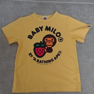 アベイシングエイプ(A BATHING APE)の【お値下げ】BABY MILO キッズTシャツ 【110cm】(Tシャツ/カットソー)
