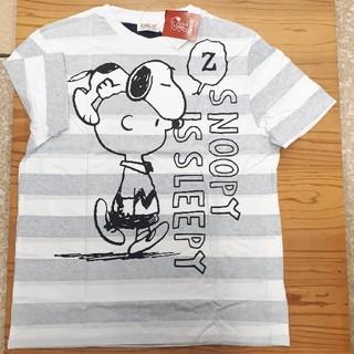 ピーナッツ(PEANUTS)の新品タグ付き ボーダー スヌーピー ビッグTシャツ (Tシャツ/カットソー(半袖/袖なし))
