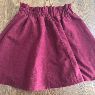 アベイル(Avail)の膝丈スカート 赤 Mサイズ(ひざ丈スカート)