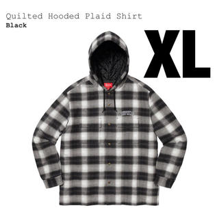 Supreme - supreme Quilted Hooded Plaid Shirt