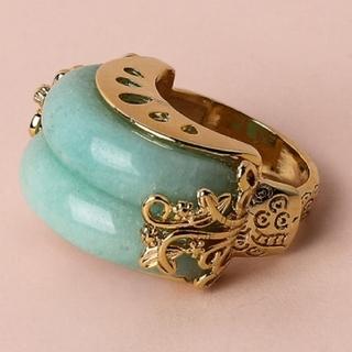 新商品◎韓国指輪◎ グリーン オマケで箱に入れます!(リング(指輪))