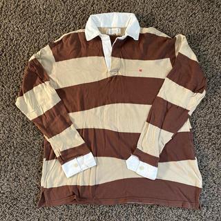 マックダディー(MACKDADDY)のマックダディー メンズ 長袖ボーダーシャツ ブラウン XL(Tシャツ/カットソー(七分/長袖))