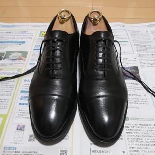 シェットランドフォックス コベントリー プレーントゥ ブラック(ドレス/ビジネス)