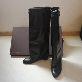 ペリーコ(PELLICO)のPELLICO ペリーコ ロングブーツ ブラック size38(ブーツ)