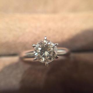 鑑定済み Pt850 ダイヤモンド 指輪 総重量3.37g