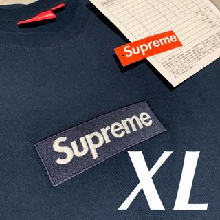 Supreme - 【Supreme】18FW Box Logo Crewneck Navy XL