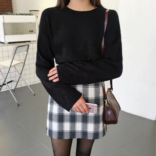 値下げ 韓国 ミチョラ ミニスカート チェックスカート   韓国ファッション