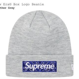 Supreme - Supreme Bandana Box Logo Beanie Gray グレー