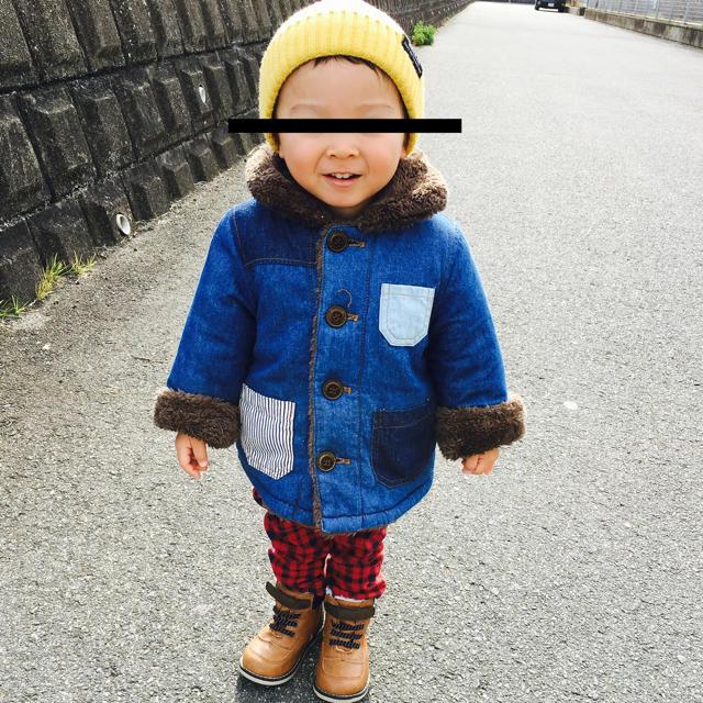 petit main(プティマイン)のリバーシブルジャケット サイズ90 キッズ/ベビー/マタニティのキッズ服男の子用(90cm~)(ジャケット/上着)の商品写真