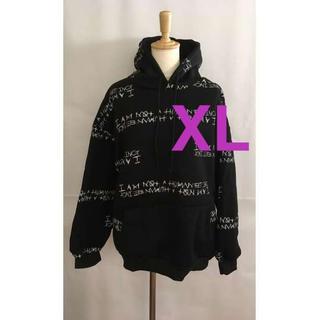 ビックシルエット パーカー 黒 XL(パーカー)