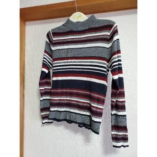 エージープラス(a.g.plus)のa q plus ボーダーのセーター(ニット/セーター)