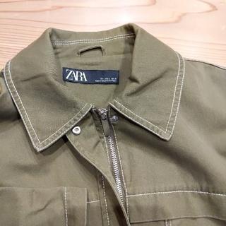 ZARA - ZARA カーキ ミリタリージャケット