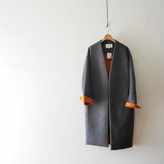 ENFOLD - ENFOLD ウールリバーノーカラーコート size:38