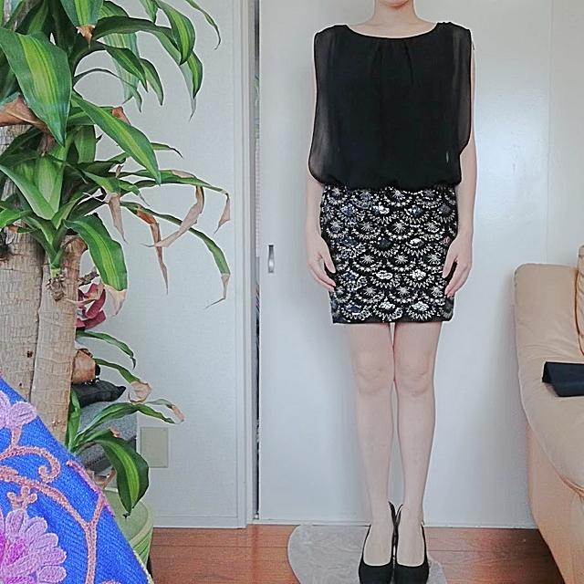 GRACE CONTINENTAL(グレースコンチネンタル)のインポート ドレス スパンコール ラメ レディースのフォーマル/ドレス(ミニドレス)の商品写真