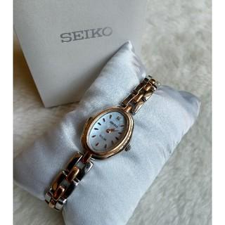 セイコー(SEIKO)のセイコー 腕時計 ソーラーシェル1Pダイヤ レディース(腕時計)
