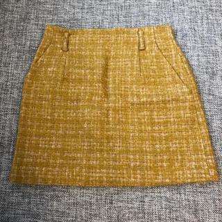Adam et Rope' - ミニスカート 黄色 丈41cm size36