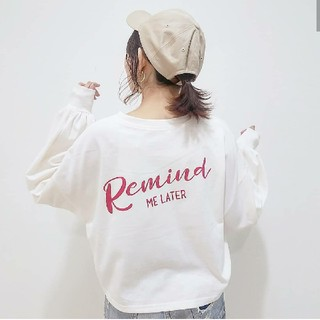 one after another NICE CLAUP - ナイスクラップ バックロゴ袖ボリューム Tシャツ