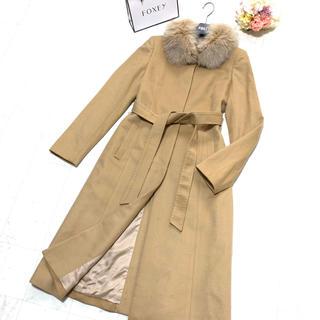 ANAYI - ♡美品♡ ANAYI アナイ カシミヤ   フォックス毛皮 ベルト コート 38