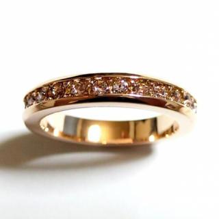 10号 フルエタニティ スワロフスキー ライトアメジスト ピンクゴールドリング(リング(指輪))