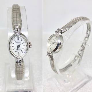セイコー(SEIKO)のアンティーク カットガラス風防 天然ジルコン入り マーキース型 カクテルウォッチ(腕時計)