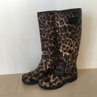 ドルチェアンドガッバーナ(DOLCE&GABBANA)のレオパード柄 レインブーツ(レインブーツ/長靴)
