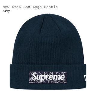 Supreme - supreme New Era® Box Logo Beanie Navy