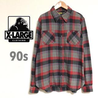 エクストララージ(XLARGE)のエクストララージ  X-Large 90sタグ ネルシャツ マルチカラーチェック(シャツ)