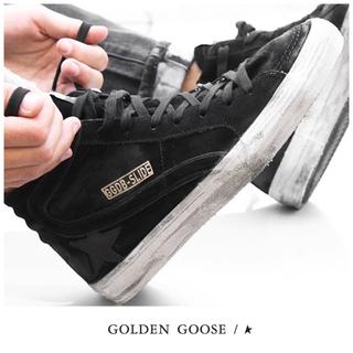 ゴールデングース(GOLDEN GOOSE)の未使用♡GOLDEN GOOSE♡ブラックハイトップスニーカー♡アパルトモン(スニーカー)