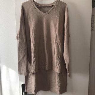美品★GU  リブTシャツ L