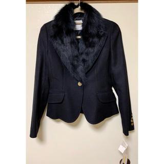 新品《エクレールデフィ オンワード樫山》ファー付きジャケット ブラック