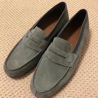 ジェーエムウエストン(J.M. WESTON)の新品 J.M. Weston ローファー 革靴 US 8 グレー スエード(ドレス/ビジネス)