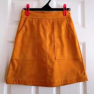 ローリーズファーム(LOWRYS FARM)の台形スカート オレンジ(ミニスカート)