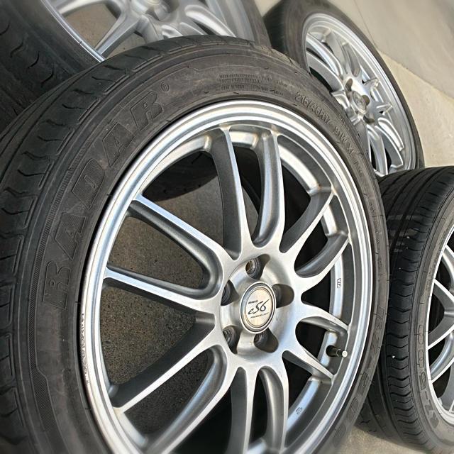 最終値下げ‼️MANARAY マナレイ 17インチ アルミホイール ホイール 自動車/バイクの自動車(タイヤ・ホイールセット)の商品写真