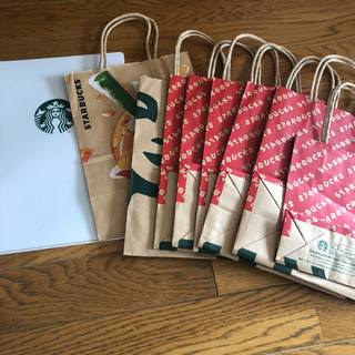 スターバックスコーヒー(Starbucks Coffee)のスタバ紙袋セット(ショップ袋)