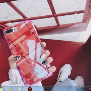 綺麗 iPhone7 iPhone8 ハート 光沢 ソフトケース