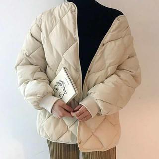 dholic - 新品 キルティング 中綿コート アイボリー ダウン