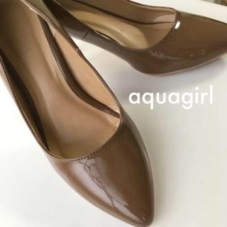 エージーバイアクアガール(AG by aquagirl)の【超美品】AG by aquagirl エナメルパンプス 24cm(ハイヒール/パンプス)